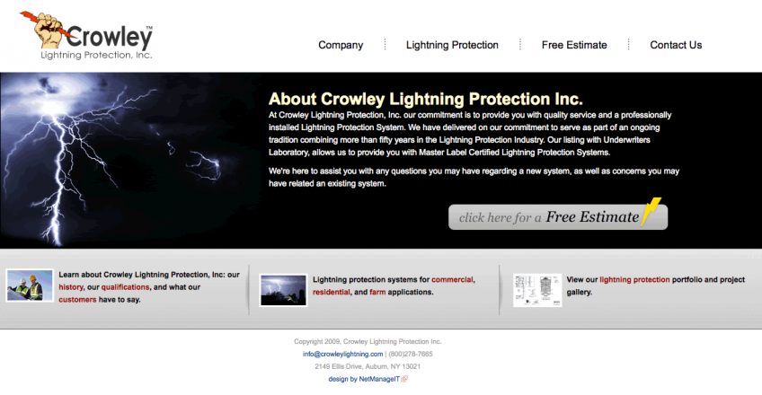 Crowley Lightning Protection