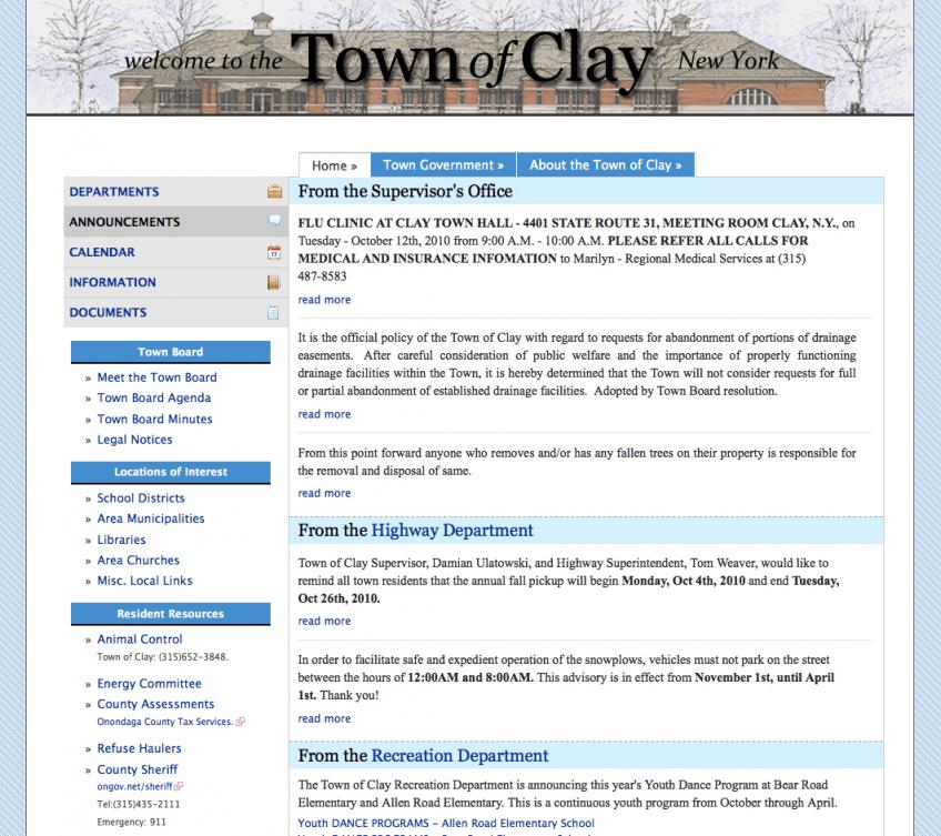 Town of Clay